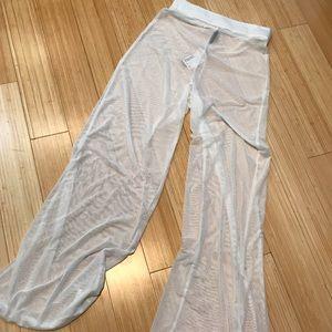 Pants - Sheer white pants